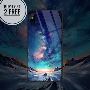 Accessories - Breathtaking Aurora Tempered Glass Phone Case
